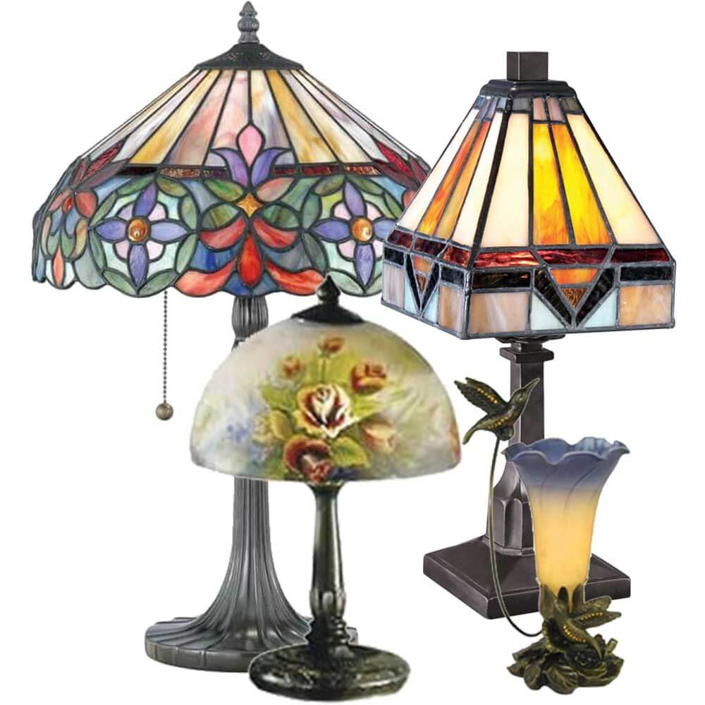 All Lamps, Mission, Tiffany, Hand Painted, Sculpted Bronze and Nightlights