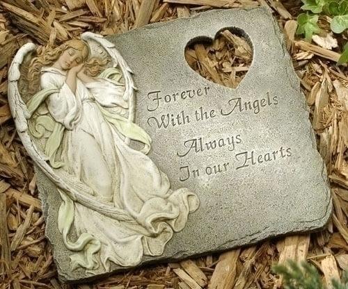 Memorial  Angel Stepping Stone